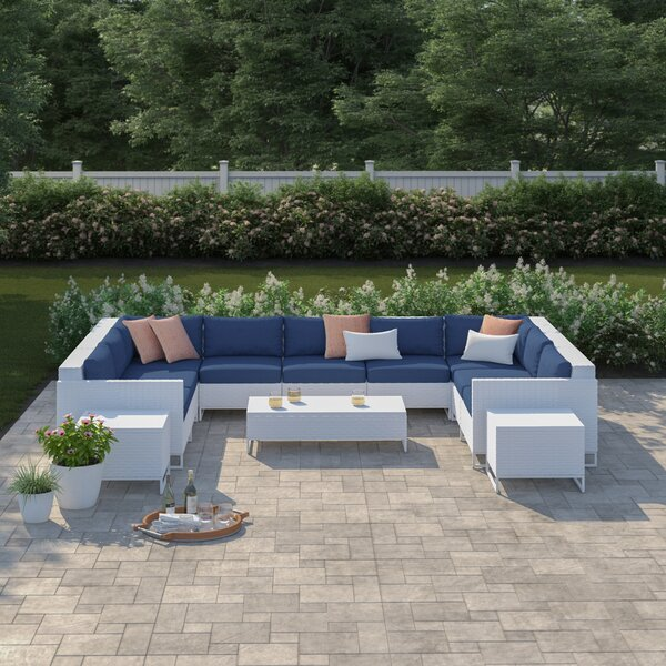 Menifee 12 Piece Sectional Seating Group with Cushions by Sol 72 Outdoor