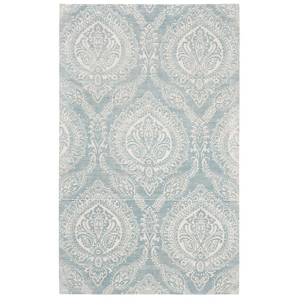 Mellie Hand Tufted Turquoise Area Rug by Bloomsbury Market
