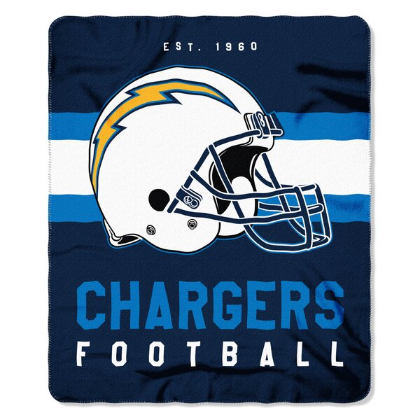 NFL Los Angeles Chargers Printed Fleece Throw by Northwest