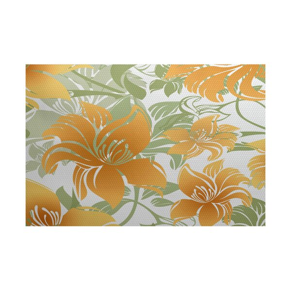 Costigan Yellow Indoor/Outdoor Area Rug by Bay Isle Home