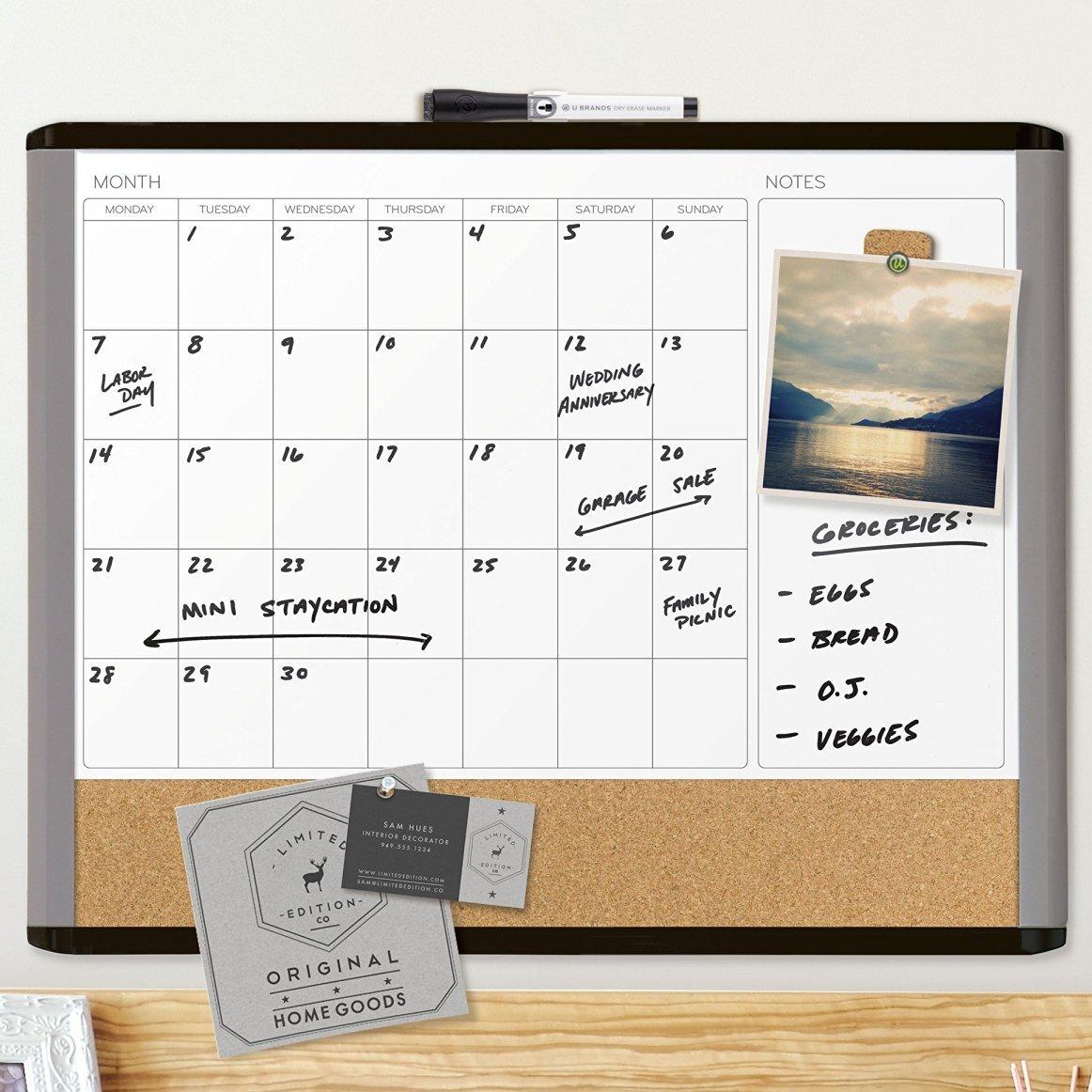 U Brands LLC Mod Frame Dry-Erase Wall Mounted Whiteboard & Reviews ...