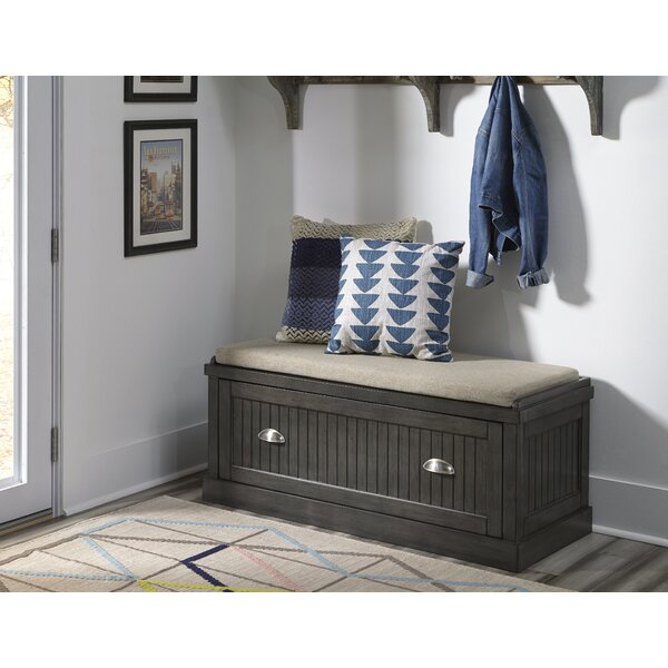 Hair Upholstered Storage Bench by Gracie Oaks