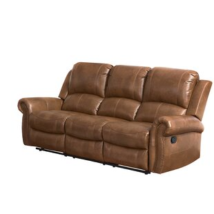 Bitter Root Leather Reclining Sofa Darby Home Co