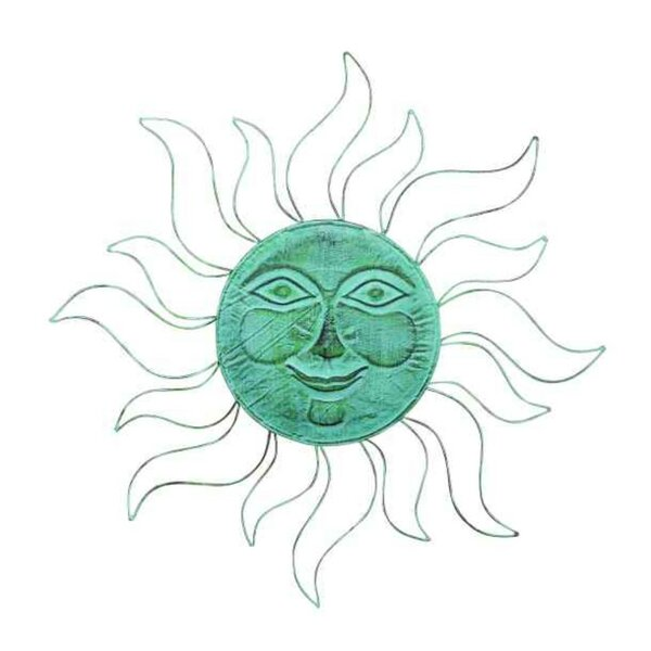 Metal Sunface Wall Décor by World Menagerie
