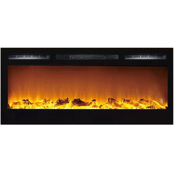 Jemaine Recessed Wall Mounted ELectric Fireplace By Orren Ellis