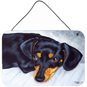 Doxie Dachshund by Tanya and Craig Amberson Painting Print Plaque by Caroline's Treasures