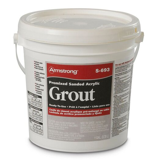 Premixed Sanded Acrylic Grout in Smoke - 1 Gallon by Armstrong Flooring