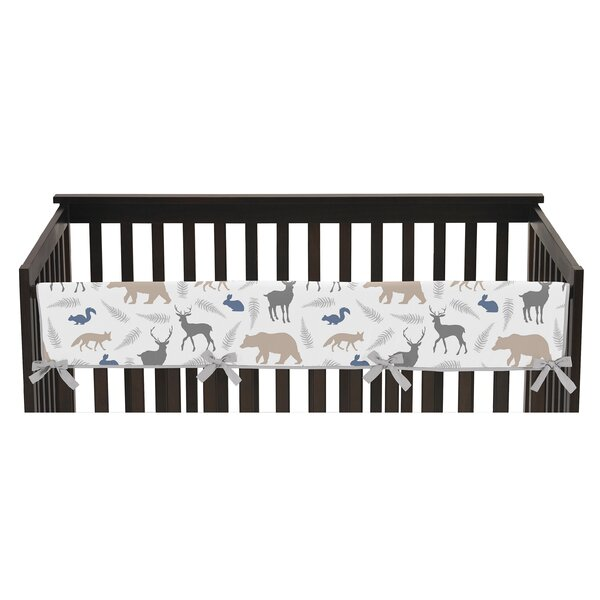 Woodland Animals Long Crib Rail Guard Cover by Sweet Jojo Designs