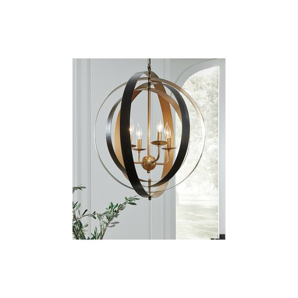 Laurelglen 4 - Light Candle Style Globe Chandelier by Wrought Studio Wrought Studio