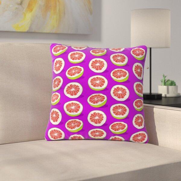 Evgenia Pomelo Outdoor Throw Pillow by East Urban Home