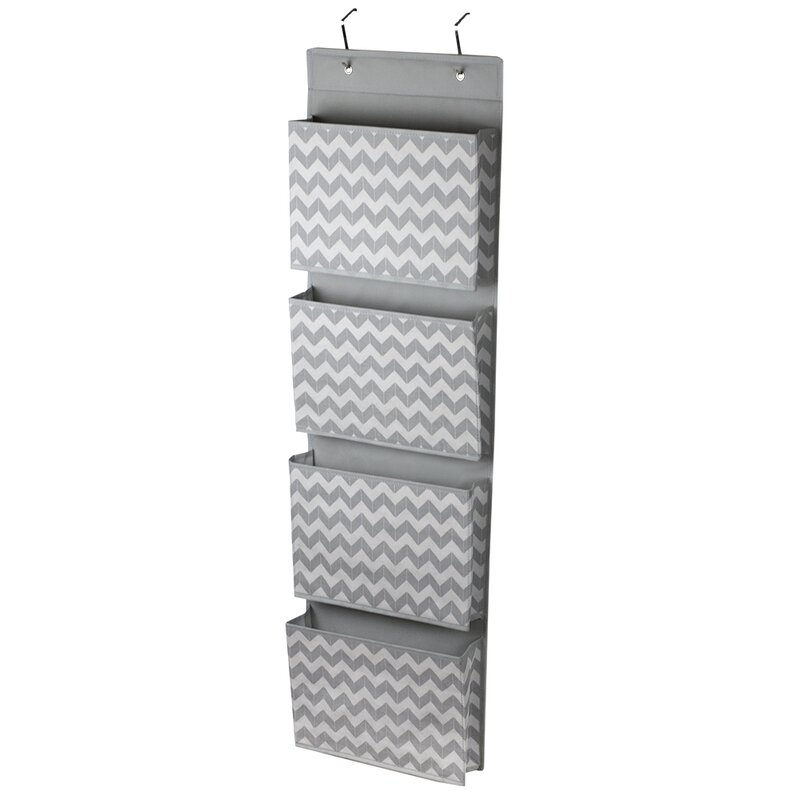 Chevron Over The Door Hanging File Organizer