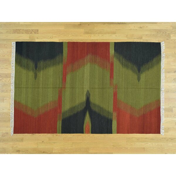 One-of-a-Kind Bess Reversible Durie Handmade Kilim Wool Area Rug by Isabelline