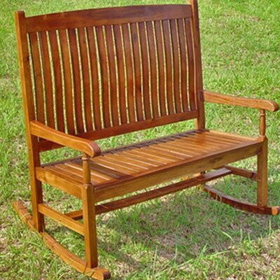 Rothstein 2-Seater Rocking Bench Beachcrest Home Color: Stain