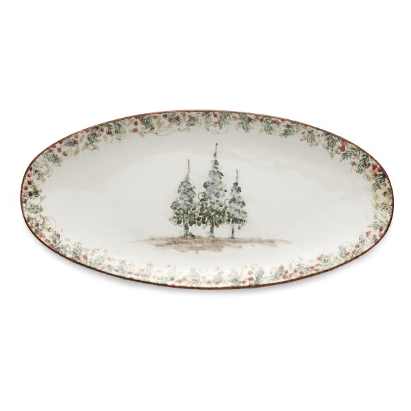 Natale Long Oval Platter by Arte Italica