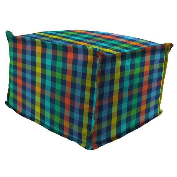 Morello Flange Edge Pouf Ottoman with Cushion by Ebern Designs