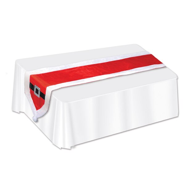 Mallon Santa Suit Fabric Table Runner (Set of 3) by The Holiday Aisle