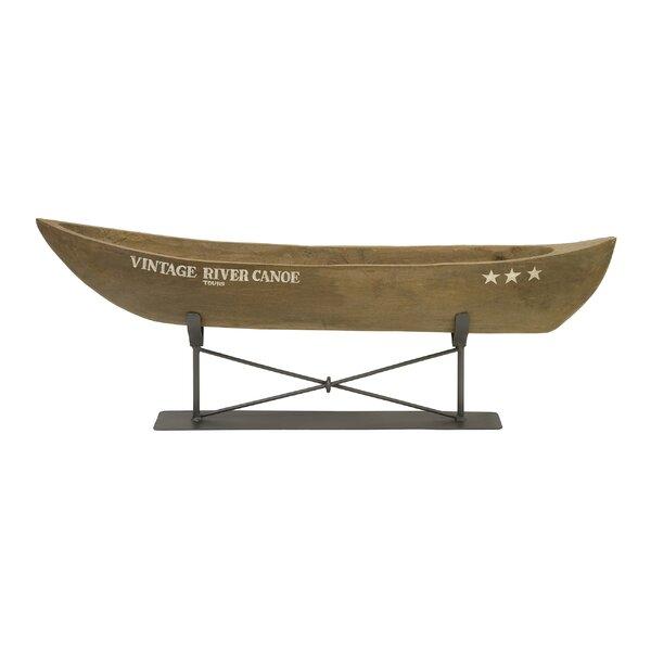 Vintage River Model Canoe Boat Sculpture by Loon Peak