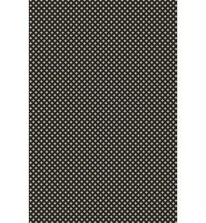 Merced Elegant Cross Design Black/White Indoor/Outdoor Area Rug by George Oliver