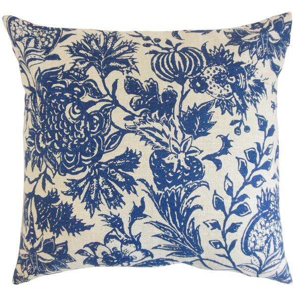 Bionda Floral Throw Pillow by The Pillow Collection