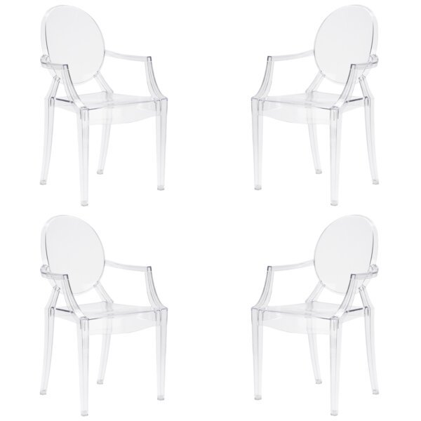 Bentlee Stacking Patio Dining Chair (Set of 4) by Everly Quinn Everly Quinn