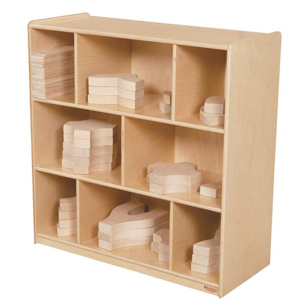 Block and Center 8 Compartment Shelving Unit by Wood Designs