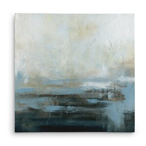 'Morning Abstract' Oil Painting Print on Wrapped Canvas by Winston Porter