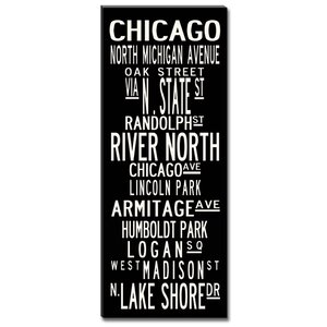 Chicago by Uptown Artworks Framed Textual Art on Wrapped Canvas by Uptown Artworks