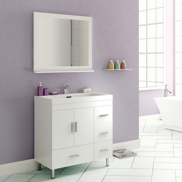 Waldwick 29 Single Bathroom Vanity Set with Mirror by Wade Logan
