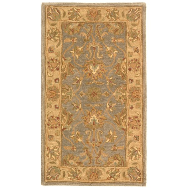 Cranmore Hand-Tufted Wool Blue/Beige Area Rug by Charlton Home