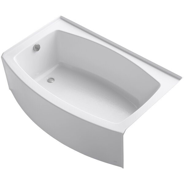 Expanse Curved Alcove 60 x 38 Soaking Bathtub by Kohler