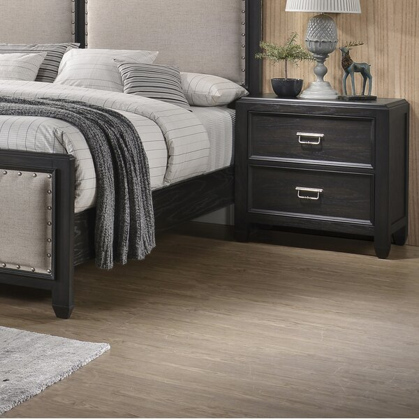 Bostrom 2 Drawer Nightstand by House of Hampton