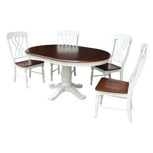 Savings Eamon 5 Piece Extendable Dining Set by August Grove