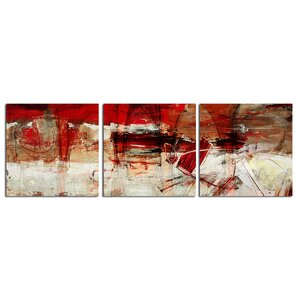 'Bueno Exchange XL' 3 Piece Painting Print on Wrapped Canvas Set by Ready2hangart