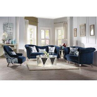 2 Piece Velvet Configurable Living Room Set by Rosdorf Park