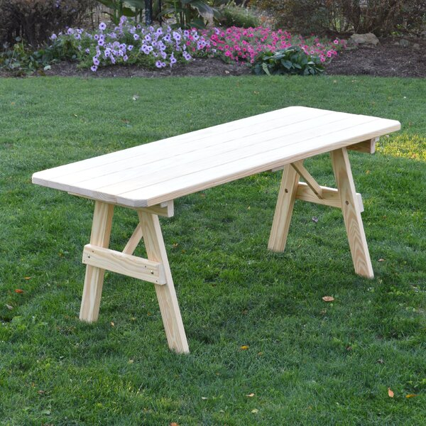 Varick Wooden Picnic Bench by Loon Peak