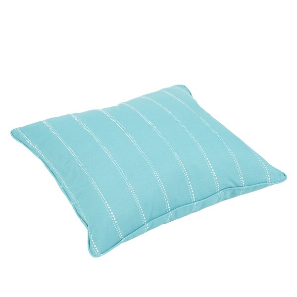 Balentine Dot Piped Stripes Indoor/Outdoor Piped Floor Pillow by Wade Logan