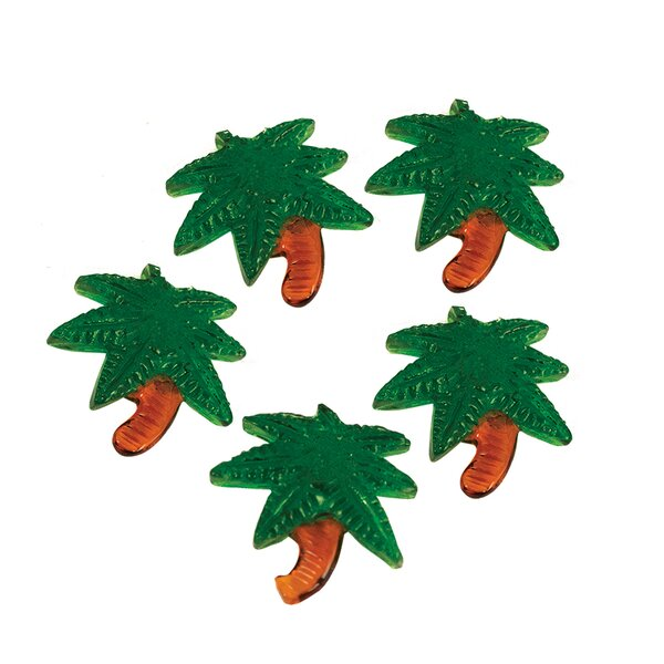 Caselli Palm Tree Glass Accents Sculpture (Set of 24) by Bay Isle Home