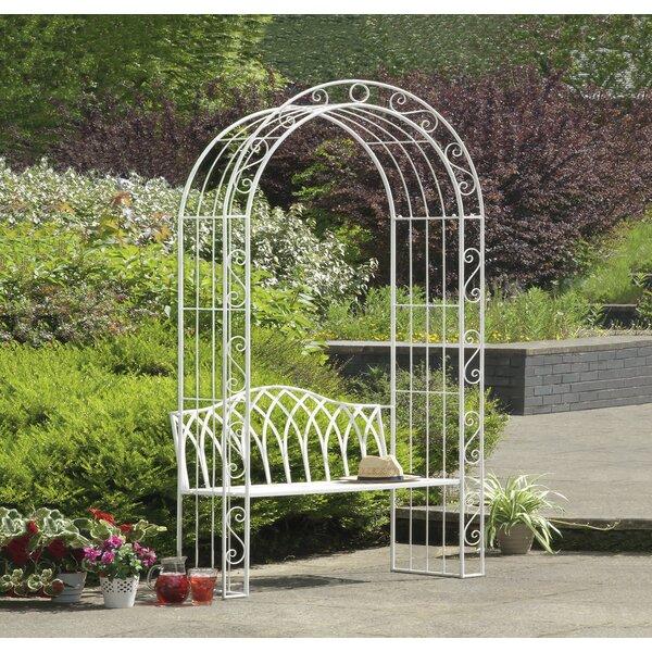 Abbas Cast Iron Arch Garden Bench by Ophelia & Co.