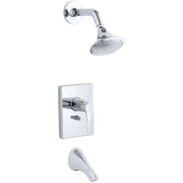Symbol Rite-Temp Pressure-Balancing Bath and Shower Faucet Trim with Push-Button Diverter, Valve Not Included by Kohler