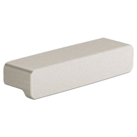 90 Degree 0.76 Drawer Pull in Brushed Nickel by Moen