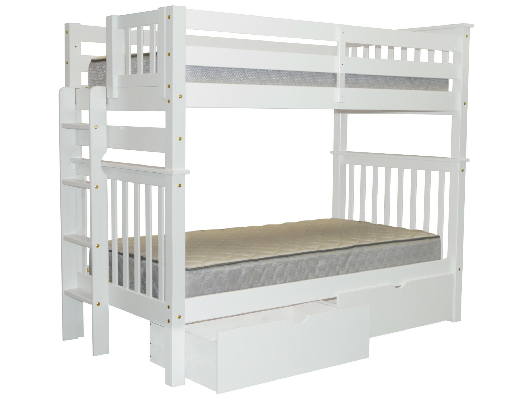 Harriet Bee Treva Tall Twin Over Twin Bunk Bed with Storage ...