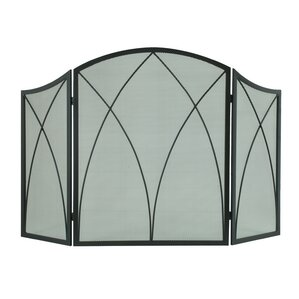 arched 3 panel fireplace screen