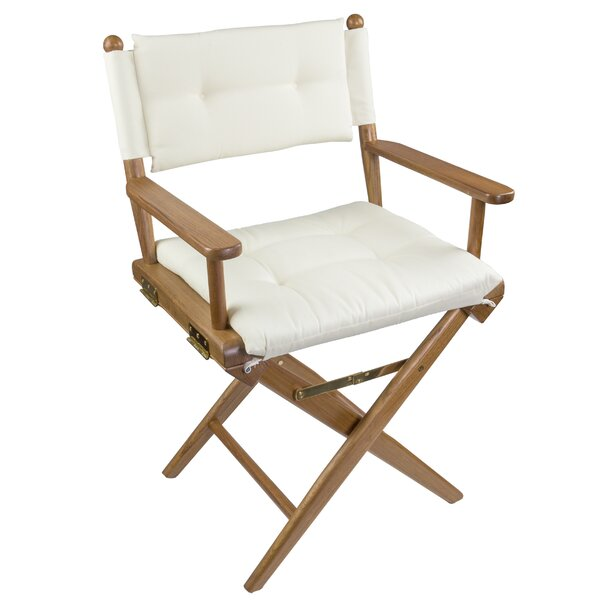 Erika Folding Director Chair with Cushion by Longshore Tides Longshore Tides