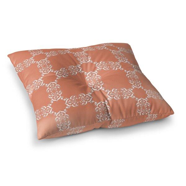 Edlin Tangerine Outdoor Floor Pillow by Bloomsbury Market