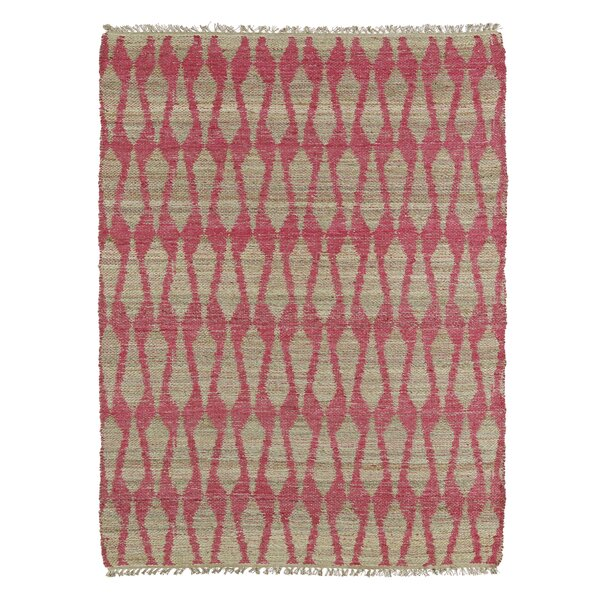 Millbourne Ivory & Pink Area Rug by Wrought Studio
