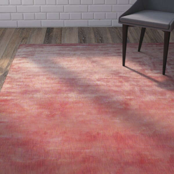 Metro Hand Woven Rust/Cream Area Rug by Brayden Studio