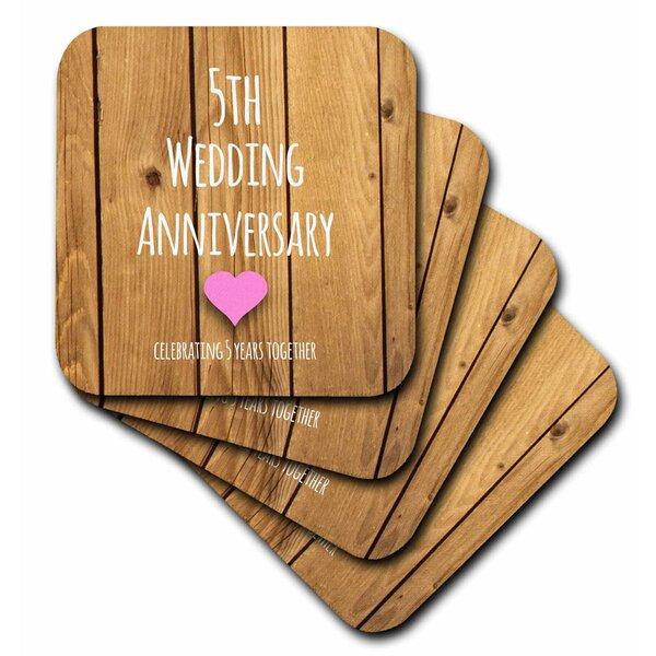 Winston Porter 5th Wedding Anniversary Gift Ceramic Tile Coaster Wayfair