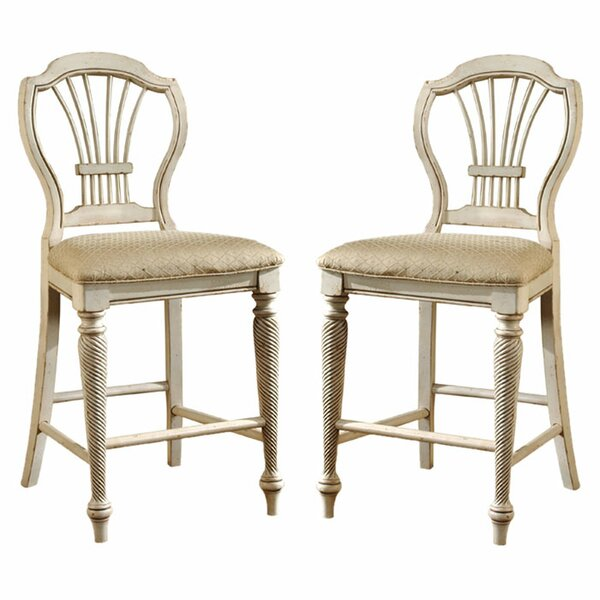 Wilshire 23.25 Bar Stool with Cushion (Set of 2) by Hillsdale Furniture