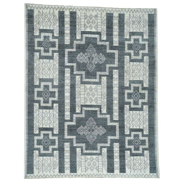 One-of-a-Kind Greear Southwest Motifs Hand-Knotted Gray Area Rug by Bloomsbury Market