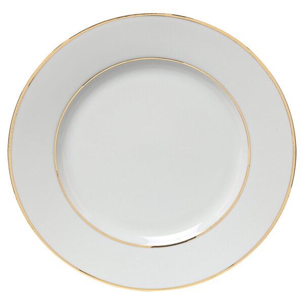 Gold Double Line 10.25 Dinner Plate (Set of 6) by Ten Strawberry Street